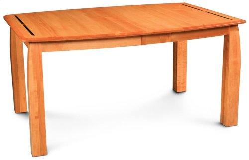 Aspen Leg Table with Inlay, Solid Top