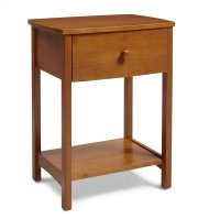 NSRO Rake Style Nightstand in Golden Oak Finish Product Image