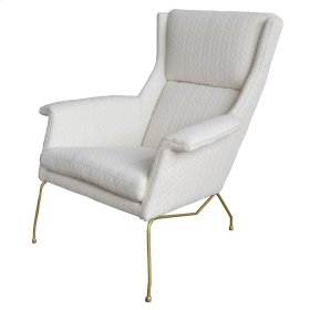 Evian KD Arm Chair, Icy Leafage Beige