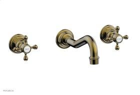 HENRI Wall Tub Set - Cross Handle 161-56 - Antique Brass