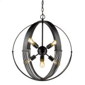 Carter 8 Light Pendant in Aged Bronze