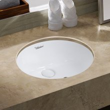 """Isabella Plus Collection 18"""" Oval Undermount Basin with Overflow and Rear Center Drain"""