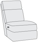 Clemens Power Motion Armless Chair Product Image