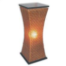 (LS) Modern Curves Pedestal Lamp (L) (15x15x39)