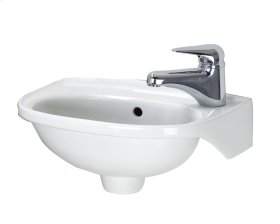 Tina Wall Hung Basin - White