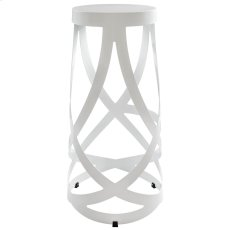 Ribbon Bar Stool in White Product Image