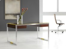 Stainless and Brass Writing Desk
