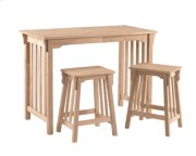 Mission Gathering Table & Stool 3pc. Set Product Image