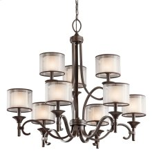 Lacey Collection Lacey 9 Light Chandelier - Mission Bronze
