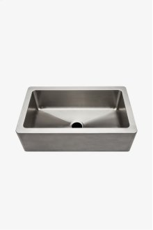 "Kerr 33"" x 19"" x 10 1/8"" Stainless Steel Farmhouse Apron Kitchen Sink with Center Drain STYLE: KRSK33"