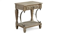Arch Salvage Gabriel Bedside Table - Parchment