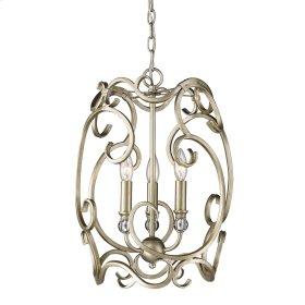 Colette 3 Light Pendant in White Gold