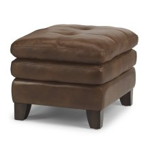 South Street Leather Ottoman