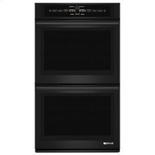 "Black Floating Glass 30"" Double Wall Oven with V2 Vertical Dual-Fan Convection System"