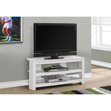 """TV STAND - 42""""L / WHITE CORNER"""