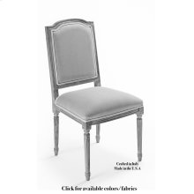 Louis Xvi Sq Side Chair Frame,Leather