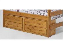 Heartland Extra Tall Bunk Bed with options: Honey Pine, Twin over Twin, 2 Two Drawer Chests