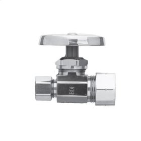 """Uncoated Polished Brass - Living Straight Valve, 1/2"""" Compression"""