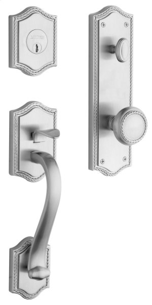 Satin Chrome Bristol Handleset