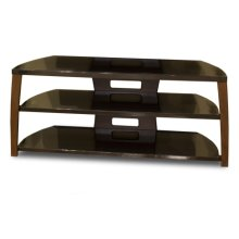 """50"""" Wide Stand, Solid Wood Walnut Finish Accents, Easy Assembly, Accommodates Most 55"""" and Smaller Flat Panels"""