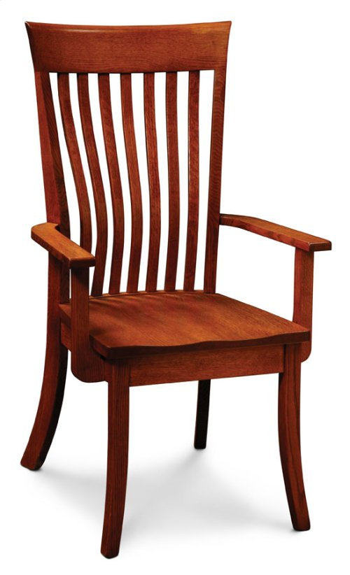 Loft II Arm Chair, Leather Cushion Seat