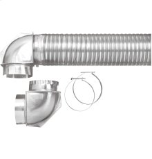 Semi-rigid dryer vent kit