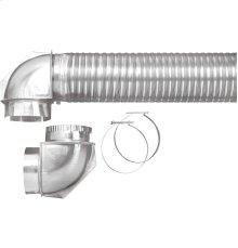 Semi-rigid dryer vent kit