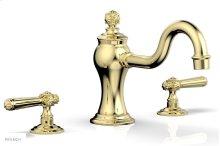 MARVELLE Deck Tub Set - Lever Handles 162-41 - Polished Brass