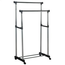 Alfred Chrome Wire Double Rod Clothes Rack - Chrome