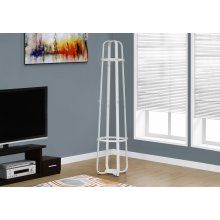 """COAT RACK - 72""""H / WHITE METAL WITH AN UMBRELLA HOLDER"""
