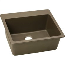 "Elkay Quartz Classic 25"" x 22"" x 9-1/2"", Single Bowl Drop-in Sink, Mocha"