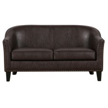Uph Faux Leather Couch - Brown PU