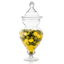 Mini Lemons & Limes In Tall Glass Apothecary Jar