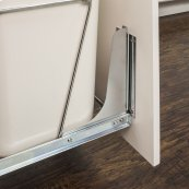 Cabinet Door Mounting Kit for Wire CAN-EBM Trashcan Pullout Series, 11min Pullouts and HP-BM1424WPC Hamper Pullout. Mounting Hardware and Instructions Included. Finish: Polished Chrome