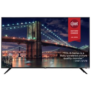 "TCLTCL 55"" Class 6-Series 4K UHD Dolby Vision HDR Roku Smart TV - 55R617"