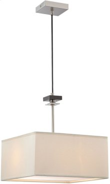 Pendant Lamp, Ps/wood/off-white Fabric Shade, E27 A 60wx2