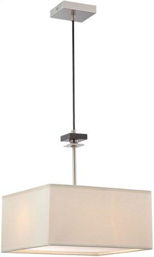 Pendant Lamp, Ps/wood/off-white Fabric Shade, E27 A 60wx2