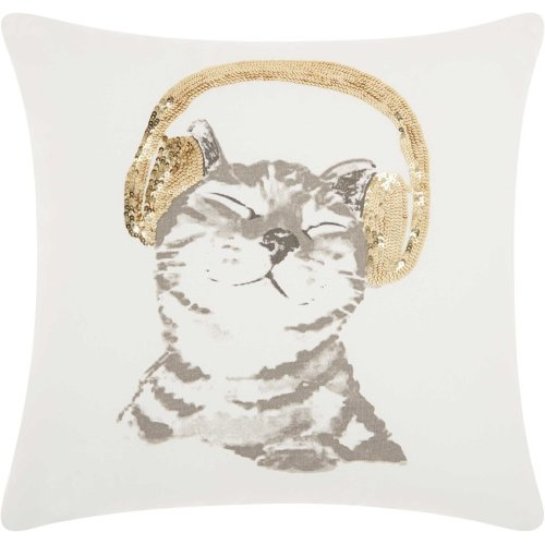 "Trendy, Hip, New-age Jb062 Gold 18"" X 18"" Throw Pillows"