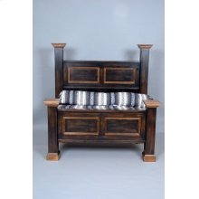 """#402 Williamsburg Bed Hearboard 63""""h Footboard 33""""h"""