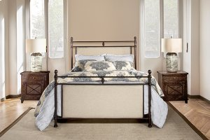 Ashley Headboard and Footboard - King - Metal Bed Rail Not Included
