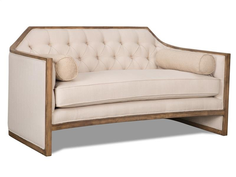 leather ivory young fit aspect width parker chairish loveseat product bradington height