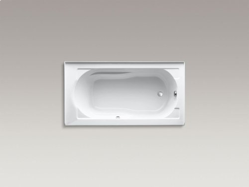 "Sandbar 60"" X 32"" Alcove Bath With Bask Heated Surface, Integral Apron and Right-hand Drain"