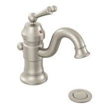 Waterhill brushed nickel one-handle bathroom faucet