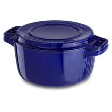 KitchenAid® Professional Cast Iron 4-Quart Casserole - Fiesta Blue