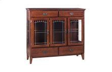 3 Door Dining Chest W/Lead Glass
