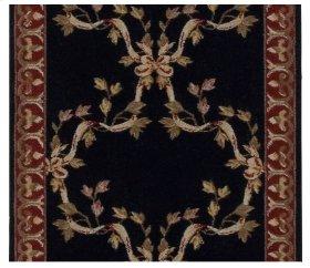 Ashton House Ribbon Trellis A01r Black-b 27''