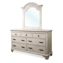 Aberdeen Seven Drawer Dresser Weathered Worn White finish