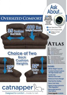 "Power ""Extra Tall"" Reclining Console Loveseat w/Stor & Cupho"