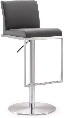 Amalfi Grey Steel Adjustable Barstool