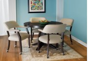 Castored Dining Set Rich Mocha w/ Light Gray Vinyl Product Image